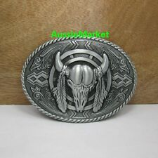 1 x mens belt buckle quality metal alloy bull jeans farmer farm cowboy biker new