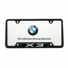 BMW X3 LICENSE PLATE FRAME, BLACK STAINLESS STEEL 82120418626