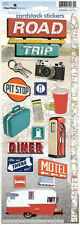PAPER HOUSE ROAD TRIP  TRAVEL VACATION FAMILY CARDSTOCK SCRAPBOOK STICKERS