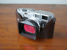 Mr.Zhou Brown Leather Half Case for Early Leica M3 Cameras with Buddha Ears Lugs