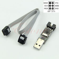 USBasp USB 5V ISP AVR Programmer ATMEGA8 ATMEGA128+6PIN Wire Support Win7 64Bit