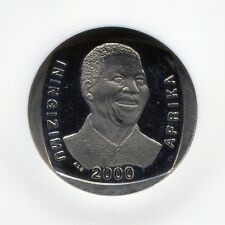 NGC Proof Rare PF 67 Ultra Cameo South Africa Nelson Mandela Year 2000 R5 Coin