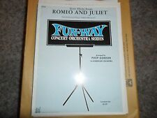 Love Theme from Romeo and Juliet Gordon Full Orchestra Sheet music arrangement