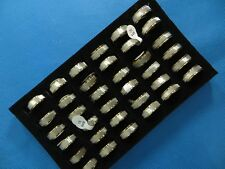 US SELLER-50 cents/ring-30 gold tone wholesale stainless steel jewelry rings