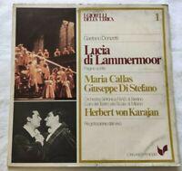LUCIA DI LAMMERMOOR MARIA CALLAS LP GAETANO DONIZETTI VINYL ITALY 1980 VG+/EX