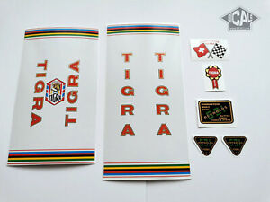 TIGRA SWISS V1 decal sticker complete bicycle, silk screen, FREE SHIPPING