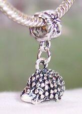 Hedgehog Woodland Animal 3D Dangle Charm for Silver European Style Bead Bracelet