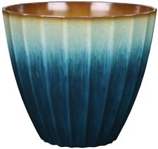 allen + roth 15.12-in x 13.78-in Teal Resin Planter