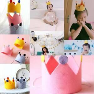 Felt Crown Birthday Top Hat Children Party Hat Holiday Celebration Decoration