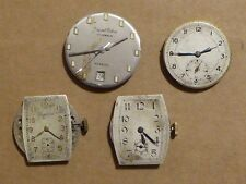 4 vintage watch movements for repair, Imperial Watch, Jaquet Cobur, 2 others.