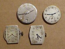4 Vintage movimientos para reparación de reloj, Reloj Imperial, Jaquet Cobur, otros 2.