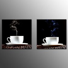FRAMED Canvas Prints Still Life Coffee Picture Modern Wall Art Home Decor-2pcs