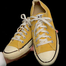 Vintage USA-MADE Converse All Star Chuck Taylor YELLOW womens sz 8 (men 6) shoes