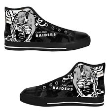 Las Vegas Raiders Mens Custom Sneakers High Top Canvas Casual Shoes