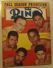 THE RING SEPTEMBER 1952 BOXING MAGAZINE DAVEY SAXTON WALLACE ARAUJO TURNER VEJAR