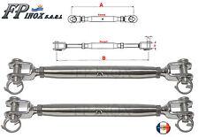 Ridoir M4 Chape Terminaison Chape 105 mm ( Lot de 2 ) inox 316 - A4