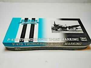 "P-47D Thunderbolt ""D-Day"" Marking 1:72 Model Airplane Hasegawa 51626 SP126"