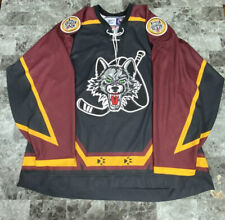 RARE Reebok MADE IN CANADA CHICAGO WOLVES HOCKEY GAME JERSEY SIZE XL