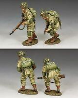 KING AND COUNTRY WW2 US Paratroopers Moving Forward Cautious 101st D Day DD288-2