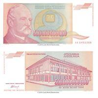 Yugoslavia 500 Billion Dinara 1993 P-137 Banknotes UNC
