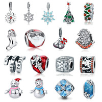 VOROCO 925 Sterling Silver Charm Fit Bracelet For Christmas And New Year Present