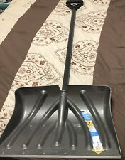 Suncast 18 In. Poly Snow Shovel & Pusher With Steel Wear Strip