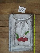 Rustic White Washed CHERRY Metal Roofing Tin Sign Distressed Retro Vintage 14x9