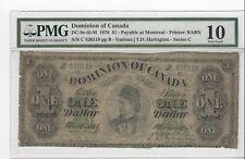 *1878*Dom of Canada DC-8e-iii-M, $1 Har / Ser C, SN# C 526118 : PMG VG-10