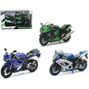 Moto giocattolo modellino Moto Yamaha-Suzuki-Kawasaki die cast 1:12 5+