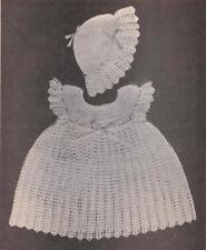 Vintage Crochet Dress and Bonnet PATTERN (NOT FINISHED ITEM)