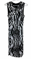 Ted Baker London Womens Black/White Sleeveless Lined Dress Size 2 AU8