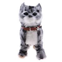 Lifelike Cat Meow Wagging Electronic Toys Plush Cat Toys Stuffed Toy Grey