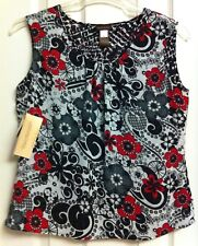 """NWT*RARE*Reversible TANK/Shell/Cami*MULTIPLES*Travel - Wrinkle-Free*L*Chest 43"""""""