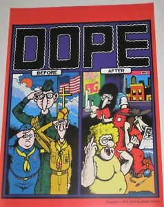 Dope Before & After Poster Gilbert Shelton Freak Brothers Classic 420 FREE S/H