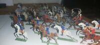 Early German Flat Lead Horses and Riders plus Tribesmen
