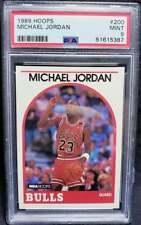 Michael Jordan 1989 Hoops #200 PSA 9 Mint HOF Bulls 1989-90 Goat