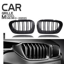For 98-01 BMW E46 Re-Facelift 2D Coupe Gloss Black Dual Slat Kidney Grille Grill