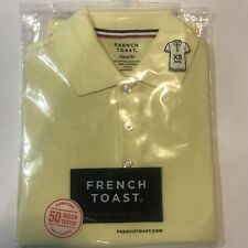 French Toast Yellow Pique Polo Shirt Boys 4-5 Nwt