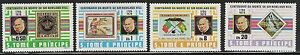 St Thomas/ Sao Tome- Scott 573-576 MNH Sir Rowland Hill, complete set CV $8+