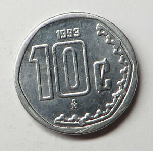 Mexico 10 Centavos 1993Mo Stainless Steel KM#547 UNC
