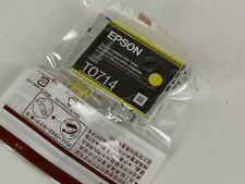 Genuine Epson Cartridge T0714 Yellow Jaune Unused New Original (A36)
