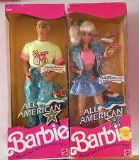 BARBIE & KEN  ALL AMERICAN 1990 NRFB