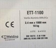 10,0 kgr Aluminium Welding Rods 1100 AL99.0Cu TIG O 2,4 x 39 3/8in Aluminum