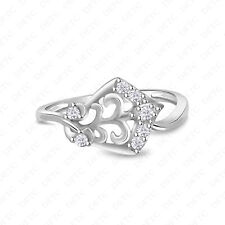 Floral Design Ring Size 4 to 12 Unique 14K Gold Finish 925 Sterling Silver