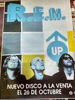 R.E.M UP SPANISH BIG PROMO POSTER 100cm X 140cm RARO REM