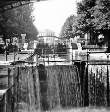 PARIS c. 1947 - Écluse  Canal Saint-Martin - Négatif 6 x 6 - N6 P151