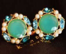 Large Stud Earrings Aqua clusters Kate Spade New York Belle Fleur