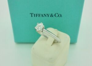 Authentic Tiffany & Co. 0.30ct F VS2 Solitaire Diamond Engagement Ring RRP$4,950