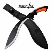 "Survivor Kukri Machete Combat Knife Hunter Sword SV-MHT001-4 3Cr13 19.75"" OA"