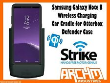 STRIKE ALPHA SAMSUNG GALAXY NOTE 8 CAR CRADLE OTTERBOX DEFENDER WIRELESS CHARGER